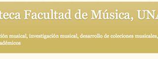Blog de la Biblioteca Facultad de Música UNAM
